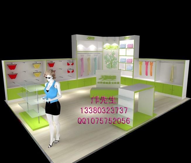 品牌内衣店面设计效果图|内衣展示柜 - 工程案例