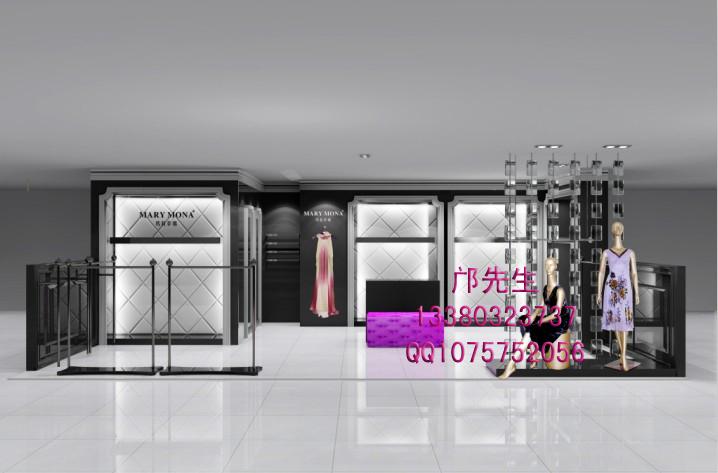 玛丽梦娜女装专卖店设计|服装展示柜