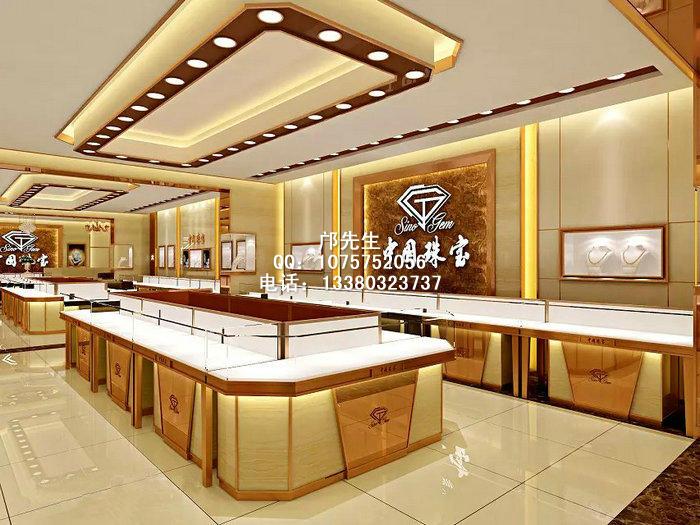时尚高档中国珠宝展柜及店面装修设计效果