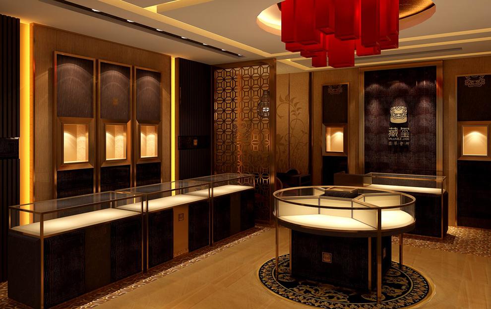 中式珠宝展柜兴起的缘由及其店面设计风格特点图片