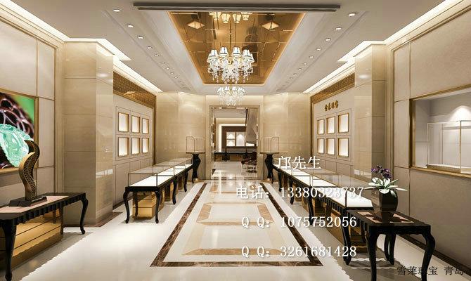 青岛雪莱珠宝展柜,欧式复古风格