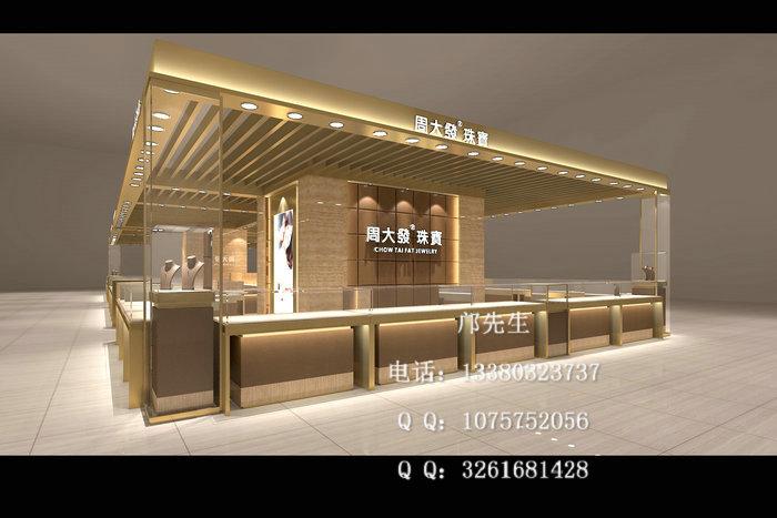 周大发珠宝展示柜 三、注重商场珠宝展柜位置空间利用,合理利用商场展示空间,各个展柜空间的大小划分,应尽量合理,展示区域明显,广告灯箱等也要放置在合理位置,整体布局要合理。珠宝展柜的大小要根据产品展示空间的大小来确定。 本文来源于http://www.zhanshi888.com/product/product_164.